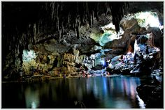 Hinagdanan Cave in the town of Dauis in Panglao Island.