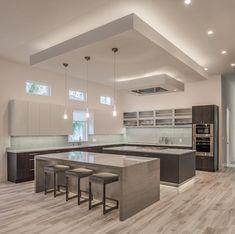 Modern Kitchen Cabinets Ideas to Get More Inspiration Dish … – Design cucine – Kitchen Cabinet Luxury Kitchen Design, Kitchen Room Design, Home Decor Kitchen, Kitchen Living, Interior Design Kitchen, New Kitchen, Home Kitchens, Kitchen Ideas, Diy Interior