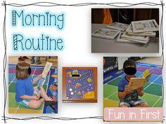Fun in First Grade daily schedule
