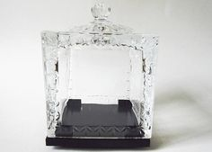 lovely leaded crystal godinger dublin revolving photo display also ideal for display of small figurine