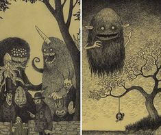 creepy-monsters-sticky-notes-drawings-don-kenn-24