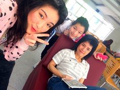 With Mama and Pui