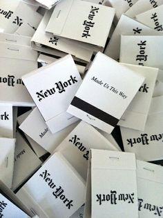 new york matchbook black  white inspiration  matches