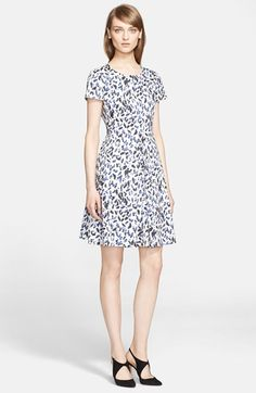 Armani Collezioni Leopard Print Fit & Flare Dress available at #Nordstrom