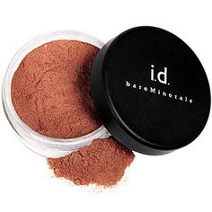 """Bare Minerals """"Warmth""""- The BEST bronzer in the world. It may look dark, but it looks soo perfect when it's on. It leaves you with glowing tanned skin and it's great for contouring your cheek bones, nose, eyelids or whatever else needs tweaking. I even brush some on my clavicle bones to make them stand out more."""