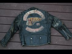 Hells Angels Leather Jacket Gang Colors