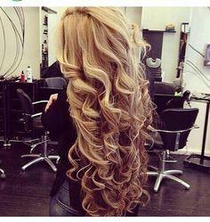 Teased curly hair