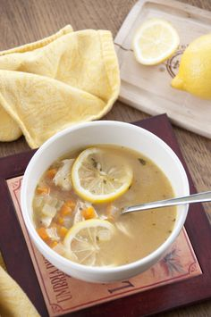 Lemon Chicken Quinoa Soup | Wishes and Dishes