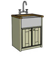 Best Details About Belfast Sink Unit Solid Wood Freestanding 640 x 480