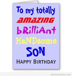 happy birthday son - Google zoeken