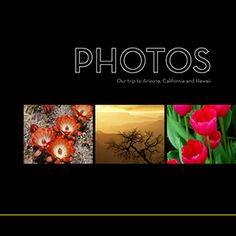 Modern Black 10x10 Photo Book