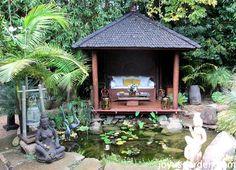 A Balinese style garden