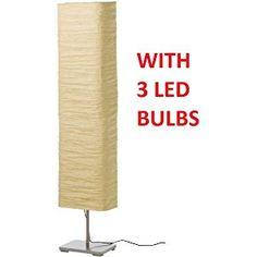 Ikea Magnarp Floor Lamp with LED Light Bulbs