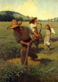 The Scythers. N.C. Wyeth Completion Date: 1908 Style: Realism Genre: genre painting Technique: oil