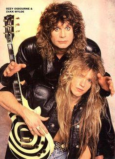 Ozzy Osbourne and Zakk Wylde, one of heavy medals greatest duo's. Metal Bands, Rock Bands, 80s Hair Metal, Black Label Society, Zakk Wylde, Estilo Rock, Metal T Shirts, We Will Rock You, Rock N Roll Music