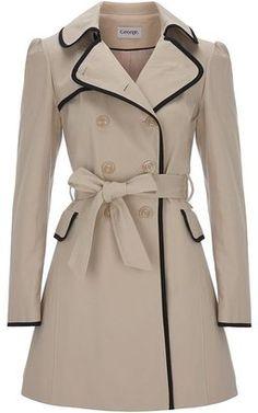 Contrast Edge Mac trench coat