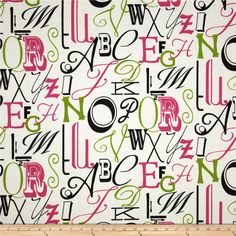 Premier Prints Alphabet Candy Pink/Chartreuse from @fabricdotcom  Screen printed on cotton duck; this versatile medium weight fabric is perfect for window accents (draperies, valances, curtains and swags), accent pillows, duvet covers and upholstery. Create handbags, tote bags, aprons and more. *Use cold water and mild detergent (Woolite). Drying is NOT recommended - Air Dry Only - Do not Dry Clean. Colors include hot pink, chartreuse, black and white.