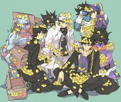 Crazy Diamond, Josuke, Star Platinum & Jotaro