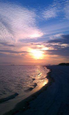 Gulfport, Mississippi sunset! The water may not be that pretty but I love it here