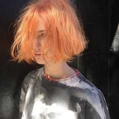 Light orange for @sensitiveskinshawty #color #haircolor #hair #orangehair