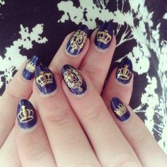 by @Lou Delaney Bradley  - Majestic Crown water decals from Sparkly Nails