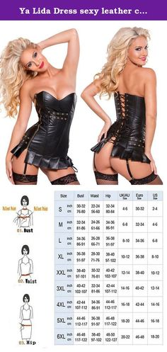 Ya Lida Dress sexy leather corset leather buckle Golden zipper 2X-Large. Our lingerie exudes sexiness and romance, By catering to all body types sizes and shapes, with top quality textiles to guarantee comfort and support. so you can easily freedom to experience it to bring Seamless, sexy, plump, firm Breast effect! unique sizing approach lends further credibility to our superior products.
