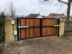 Metal framed driveway gates and estate gates. Huge range of gate designs, handcrafted in the UK to any size. From traditional metal framed driveway gates to modern gate designs. Really make an entrance Timber Gates, Wooden Gates, Timber Cladding, Driveway Gate, Driveway Ideas, Fence Ideas, Modern Driveway, Outdoor Projects, Outdoor Decor