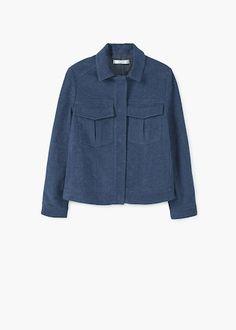 Dark denim jacket   MANGO