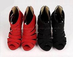 Sexy Womens Platform Pump Stiletto High Heels Ankle Boots Sandal Shoes Black/Red, http://www.amazon.com/dp/B00J2QW9WU/ref=cm_sw_r_pi_awdm_m1RCtb1DDSVAT