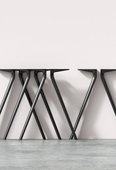 Meety mimics the adaptable system of Catifa in table form. Inspired by the architectural structure of bridges—at once strong and lightweight—Meety's aluminum legs form a solid structure from which the top appears to float or hover. An adaptable and dynamic system of tables engineered to be optimally customizable, Meety retains its unique character from its cast aluminum legs that seamlessly integrate into multiple tabletop options: size, scale, and material.  Design by @lievorealtherrm…