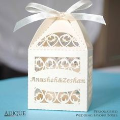 ** Lasercut Personalised Wedding Favour Boxes   Any Colour Any Name   100 Pack**