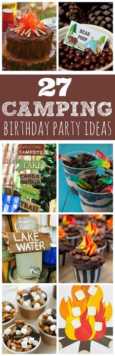 New Camping Theme Birthday Decorations Party Ideas Ideas Boy Birthday Parties, Birthday Fun, 9th Birthday Party Ideas For Boys, Party Themes For Kids, Baby Boy Birthday Themes, Creative Birthday Ideas, Lumberjack Birthday Party, Outdoor Birthday, Birthday Cake