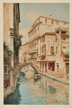Attributed to Gino Baldo (Spanish, 1884-1961)      Venice Canal