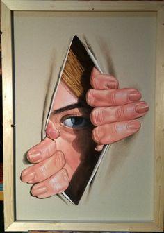 Trough canvas Acrylic on canvas size 100/70 cm