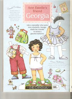 Ann Estelle's friend Georgia sheds her overalls to reveal a ballerina, by Lagniappe*Too, via Flickr