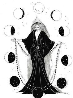 """neskatohime-illustration: """"Happy New Year guys! Thank you for your support! """" neskatohime-illustration: """"Happy New Year guys! Thank you for your support! Art Inspo, Kunst Inspo, Inspiration Art, Art And Illustration, Ink Illustrations, Witch Art, Witch Aesthetic, Book Of Shadows, Dark Art"""