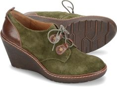 I think these would look cute with the right outfit.  Sofft Womens Camila - Olive-Suede color #mori