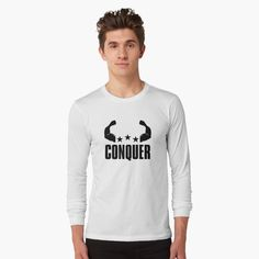"""Save The Rhino (White Background)"" Long Sleeve T-Shirt by thekohakudragon Save The Rhino, California Bear, Bear T Shirt, V Neck T Shirt, Classic T Shirts, Long Sleeve Tees, Shirt Designs, Graphic Sweatshirt, Sleeves"