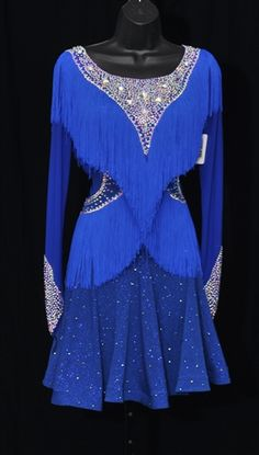 Fun Royal Blue Fringe Latin Dress - - Source by Ice Dance Dresses, Latin Ballroom Dresses, Latin Dresses, Ballroom Dancing, Ladies Dress Design, Costume Design, Dance Wear, Just For You, Outfits
