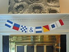Custom Nautical Flag Paper Banner - 8 or 9 Flags by HookedonArtsNCrafts