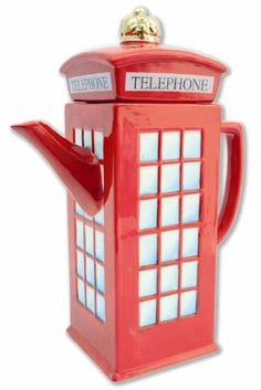 Phone booth pot, probably English Breakfast tea!
