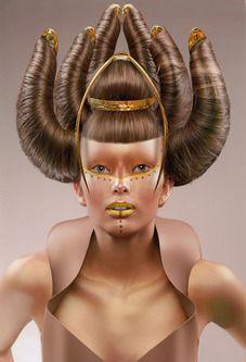 hair art Hair, taken to the Extreme! - The HairCut Web Love Hair, Big Hair, Dress Hairstyles, Cool Hairstyles, High Fashion Hair, Avant Garde Hair, Crazy Hair Days, Foto Fashion, Fantasy Hair