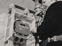 Pole mounted repeater and linkman fitting cover, 1967. IET Archives NAEST 211/02/22/05 T.6025