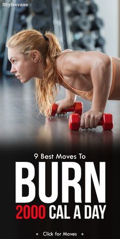 9 Best Exercises To Help You Burn 2000 Calories A Day - Fitness And Health Forme Fitness, Body Fitness, Fitness Diet, Health Fitness, Fitness Gear, Health Diet, 5 Day Workout Plan, 5 Day Workouts, Fitness Workouts