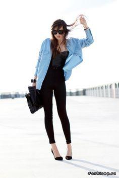 Джинсовая рубашка / юбка с джинсовой рубашкой