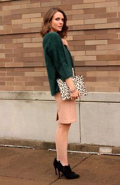 81a1f78ac94d Emerald faux fur sweater