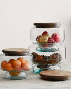 hable hand-blown bistro jars - saw these in one of garnet hill's 2015 holiday catalogs, but didn't jump on them fast enough. these would be ideal for storing/displaying different types of christmas cookies. described as hand-blown in spain by a company called hable.