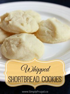 Looking for a recipe for delicious Whipped Shortbread Cookies? Well, here it is. This is it!