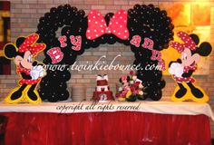 balloon decor :: minnie mouse birthday party balloon decorations ...