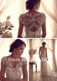 Wholesale Sheath Wedding Dresses - Buy Most Beautiful Sheer Chiffon Glitter  Beaded Sequins Sweep Train V-neck Wedding Dresses Castle Appliques Bow  Pretty ... 83cf8fb617e6